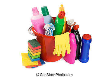 Assortment of means for cleaning isolated - Assortment of...