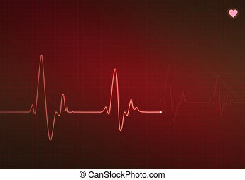 Critical Heart Condition - Medical heartbeat monitor...