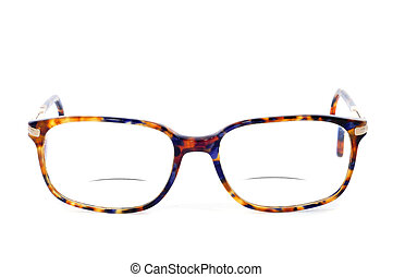 bifocal glasses on a white background