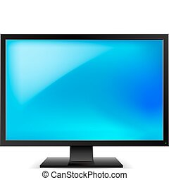 Lcd tv monitor Illustration on white background