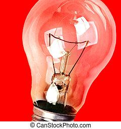 tungsten spiral filament lamp closeup