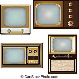 Vintage Televisions - Vintage Television Vector Designs