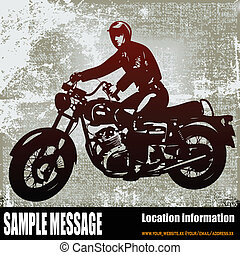 Motorcyclist Background - Motorcyclist Vector Background