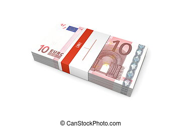 Packet of 10 Euro Notes with Bank Wrapper - single packet of...