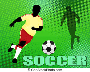 Soccer background. Abstract Classical football poster