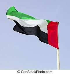 UAE national flag - The national flag of the United Arab...