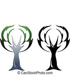 Oak tree tattoo - Oak tree rendered in two different tattoo...