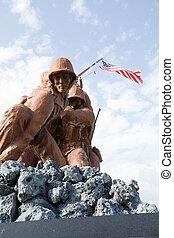 militar, estátuas