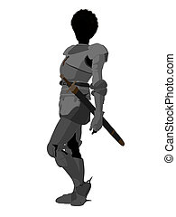 Joan of Arc Illustration Silhouette - Joan of Arc silhouette...