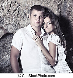 Couple - Outdoor portrait of a sexy young couple