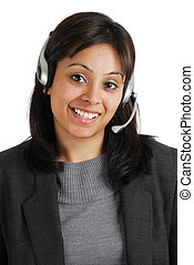 Customer support smiling - This is an image of business...
