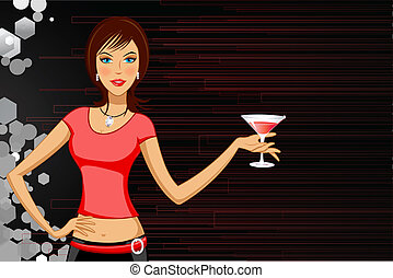 Lady with Drink