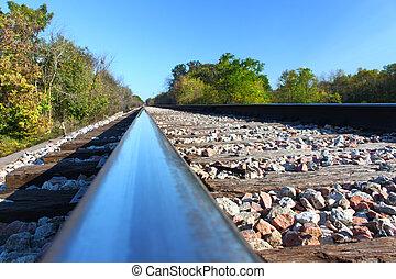 ferrocarril, pistas, -, Illinois