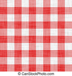 digitally made red picnic cloth