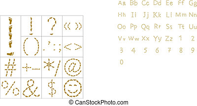 Footprints, signs - Set of signs and symbols from human...
