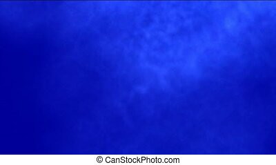 Smoky Clouds in blue background.