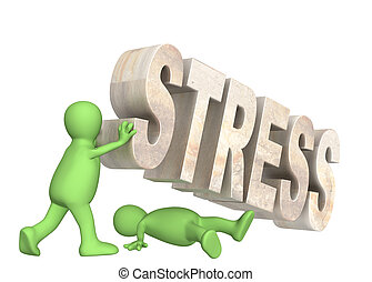 Stress - Conceptual image - hostage of the stress