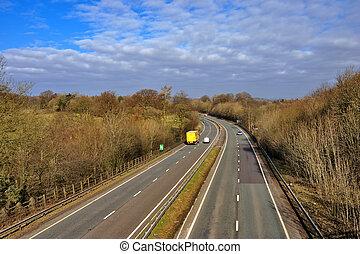 UK dual carriageway - The A590 UK dual carriageway in...