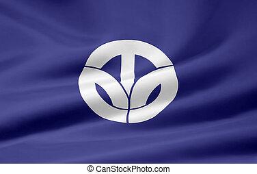 japón, bandera,  -,  fukui