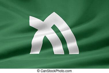 japón, bandera,  -,  kagawa