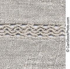 Homespun linen cloth - Handmade: fragment of a homespun...
