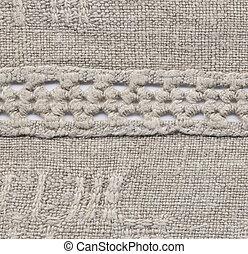 Homespun cloth, wrong side - Handmade: fragment of a...
