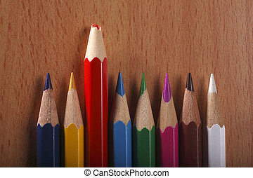 stand out - blunt color pencil stand out from the crowd