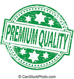 Premium Quality Stamp - Rubber stamp illustration showing...