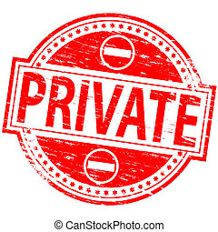 Private Stamp - Rubber stamp illustration showing PRIVATE...