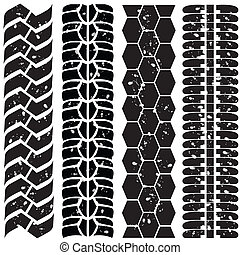 Print various automobile tyres