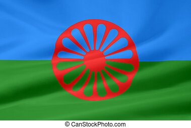 Flag of the Romani group - High resolution flag of the...
