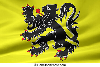 Flag of Flanders - Belgium - High resolution flag of...