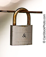 and Lock - A padlock with
