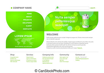 Ecology / green tech web template
