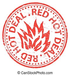 Red Hot Deal Stamp
