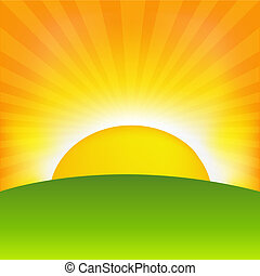 Sunrise - Sunset And Horizon, Vector Illustration