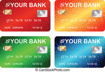 credit cards - vector