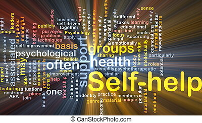 Self-help background concept - Background concept wordcloud...