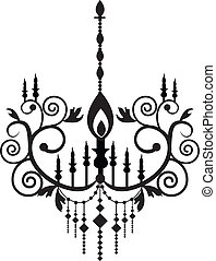 Chandelier - Stock Vector Illustration: Chandelier