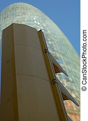 Agbar Tower - Agbar tower colour christal glass in Barcelona...