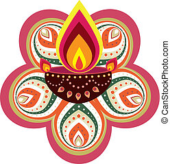 Pattern - Stock Vector Illustration: Indian new year element...