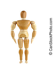 Wooden manikin body builder