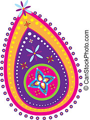 Indian Pattern - Stock Vector Illustration: Indian new year...