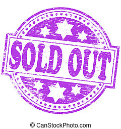 "Sold Out Stamp - Rubber stamp illustration showing ""SOLD..."