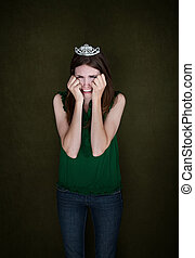Woman With Crown Cries