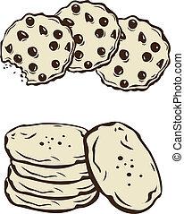 Cookies - Stock Vector Illustration: Cookies
