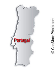 Portugal Map - A simple 3D map of Portugal.