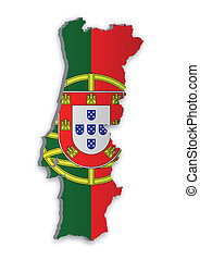 Portugal Map_2 - A simple 3D map of Portugal
