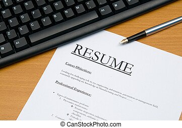 resume - This is an image of form.