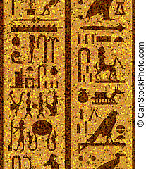 egyptian seamless hieroglyphs - Egyptian seamless...